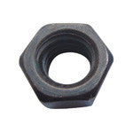 Plain Hex Nut (Pack of 10) (Actual product is unfinished steel unless powder-coating is chosen at checkout.)