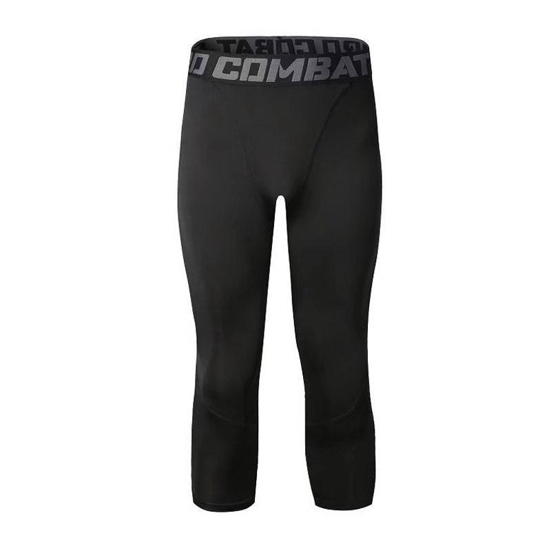 Men's Tracksuit Gym Fitness Compression Sports Leggings Clothes Running Jogging 3/4 Pants Gym