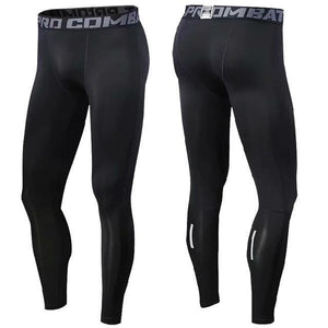 Open image in slideshow, Men's Tracksuit Gym Fitness Compression Sports Leggings Clothes Running Jogging 3/4 Pants Gym