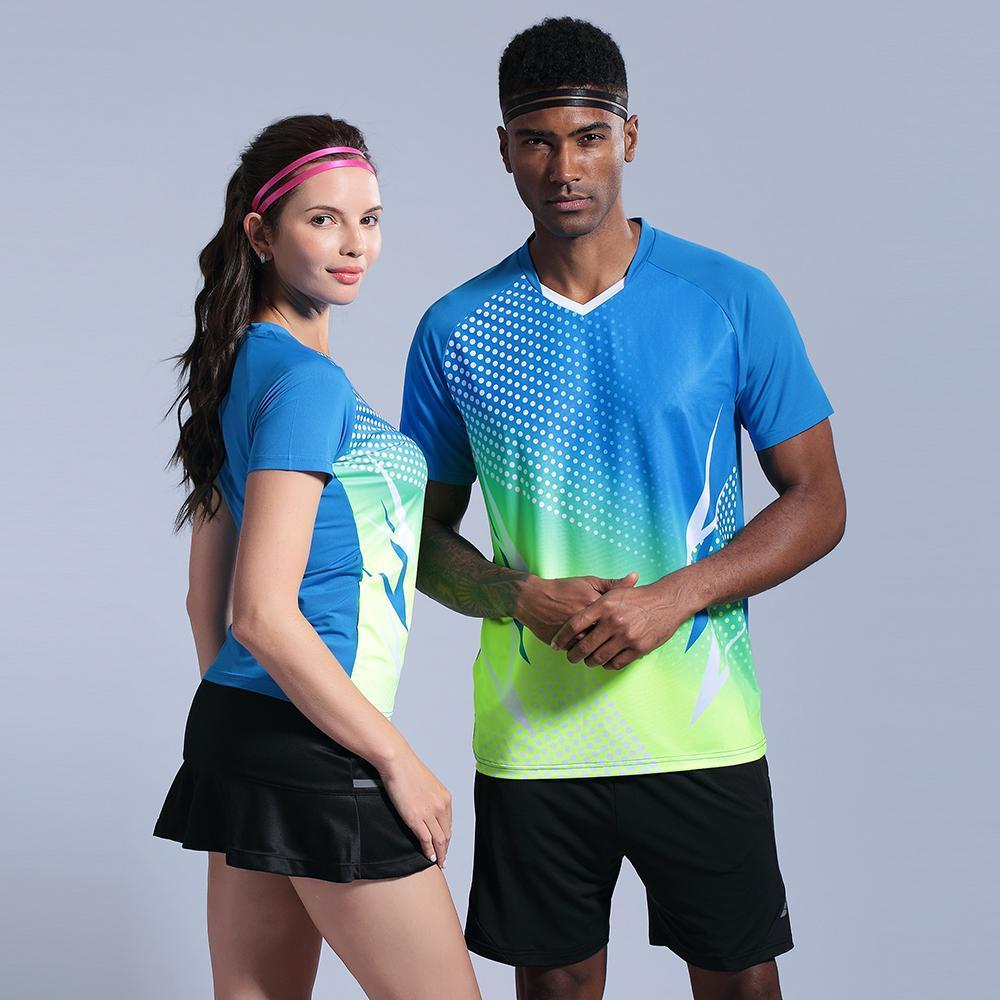 Men's Shirt Running T-shirts Women short sleeve golf table tennis shirts Sports Suit Gym Fitness