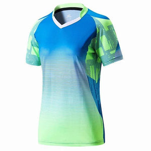 Open image in slideshow, Men women short sleeve Badminton wear shirts gym sport clothing outdoor running t-shirt sportswear