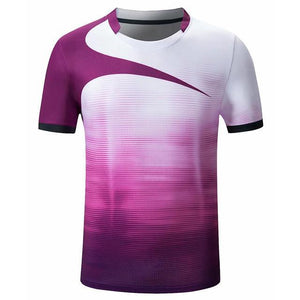 Open image in slideshow, Men women short sleeve table tennis shirts gym sport clothing badminton shirt outdoor running