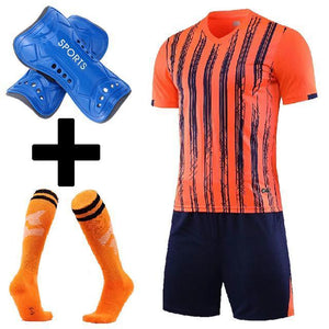 Open image in slideshow, Men Soccer Jerseys Football Training Suit Costume survetement  Adults Kids Plain Soccer Jersey