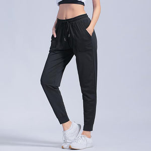 Open image in slideshow, Sport Leggings Women Gym High Waist Yoga Leggings Loose Fitness Running Yoga Pants Running Trousers