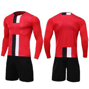 Open image in slideshow, Boys and girls Soccer Jersey Long sleeve set Men youth soccer sets training jersey suit sport kit