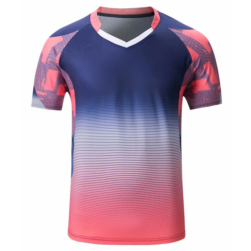 Men women short sleeve Badminton wear shirts gym sport clothing outdoor running t-shirt sportswear