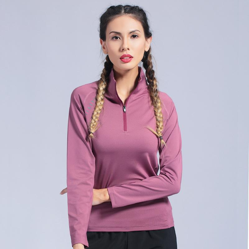Women's Gym Yoga Shirts Seamless Long Sleeve Fitness Woman Sport Shirt Yoga Top For Female Workout