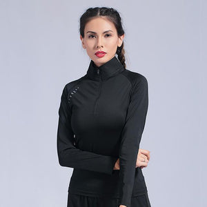 Open image in slideshow, Women's Gym Yoga Shirts Seamless Long Sleeve Fitness Woman Sport Shirt Yoga Top For Female Workout
