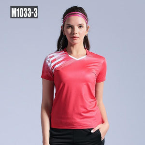 Open image in slideshow, New Tennis shirts Men women short sleeve golf Po shirts gym sport clothing badminton shirt outdoor