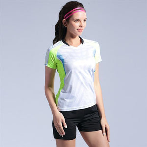 Open image in slideshow, New Sports shirt Gym clothes Badminton Shirt Women/Men's Table Tennis shirt Quick dry sportswear