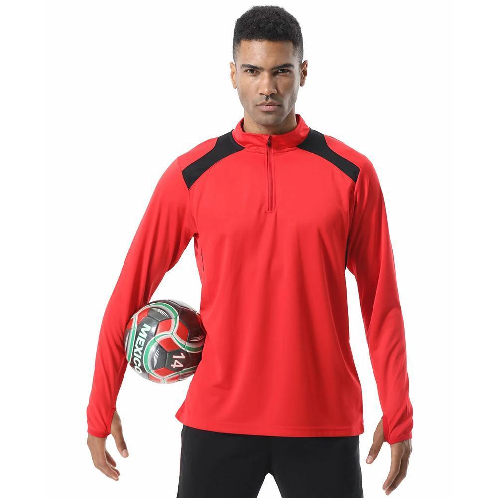2020 New Men Football Jerseys Sport Long Sleeve Running Workout Top Tee Quick-Dry Football