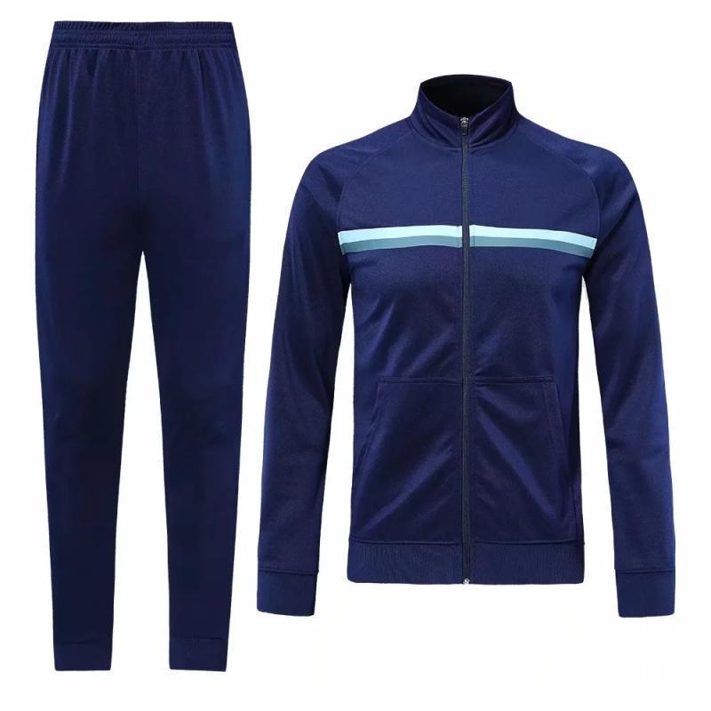 Survetements de foot Homme 19 20 blank Winter Tracksuit Men Soccer Jerseys Sets Uniforms Football