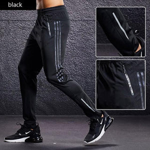 Open image in slideshow, Sports pants Men's Running Pants With Zipper Pockets GYM Football Soccer Training Soccer Pant