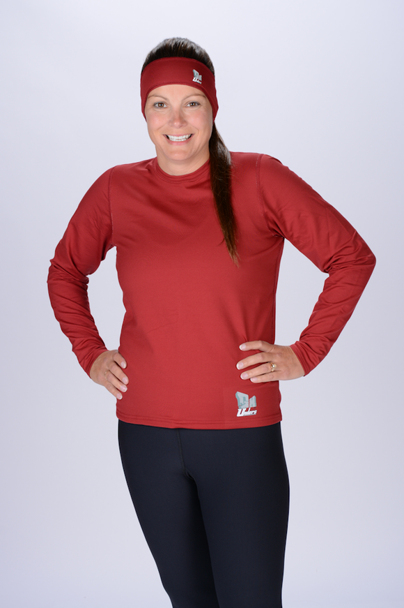 Crimson Top Long Sleeve Crew Neck Women's