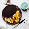 Vegan Orange Chocolate Ganache Tart