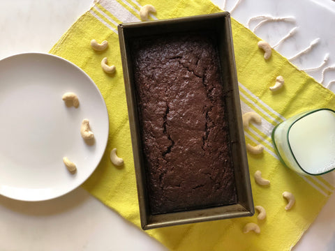 Chocolate karma nuts raw cashew zucchini bread recipe