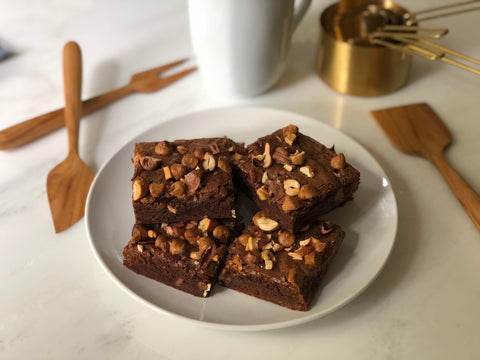 Chocolate Chunk Karma Nuts Wrapped Cashew Butterscotch Brownies Recipe