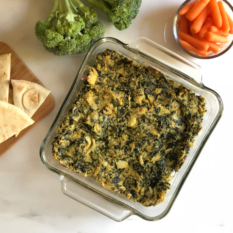 Paleo Vegan Spinach Artichoke Dip Karma Nuts Raw Cashews Recipe