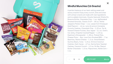 snacknation Karma Nuts cashews mindful munchie box postmates