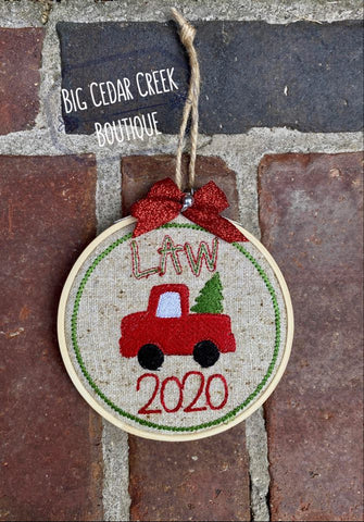 Little Red Truck Christmas Ornament