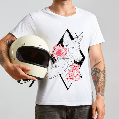 Camiseta Dog'n Roses Hombre