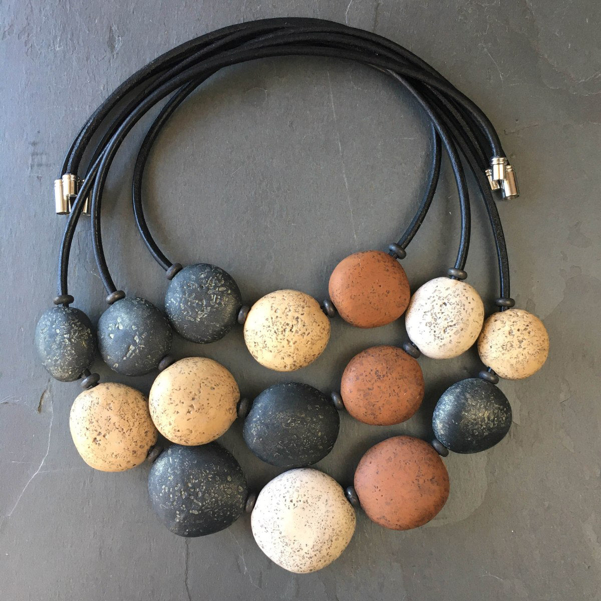 Pebble Necklace Set - Chocolate