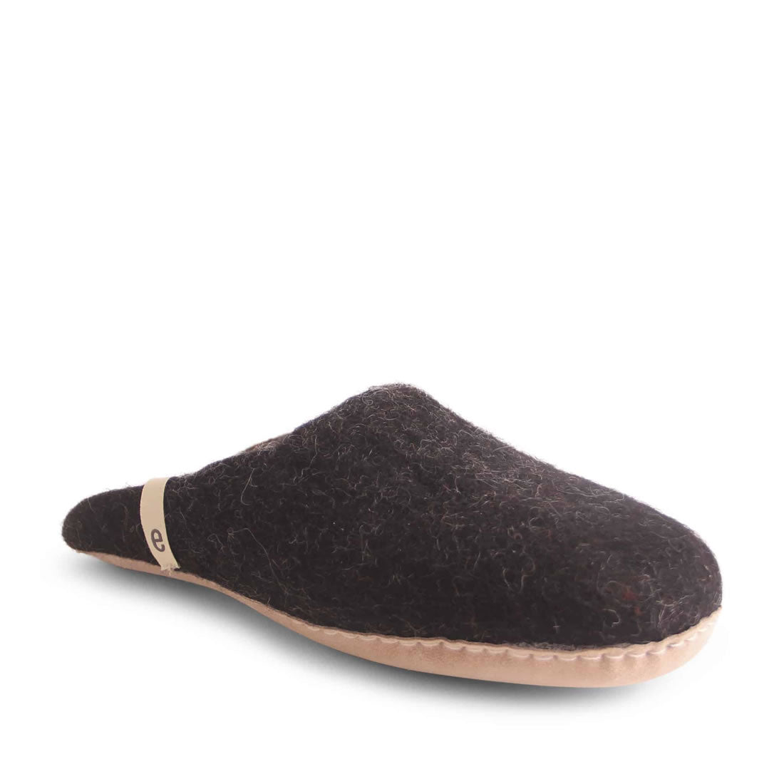 Egos Black Slip on Slipper