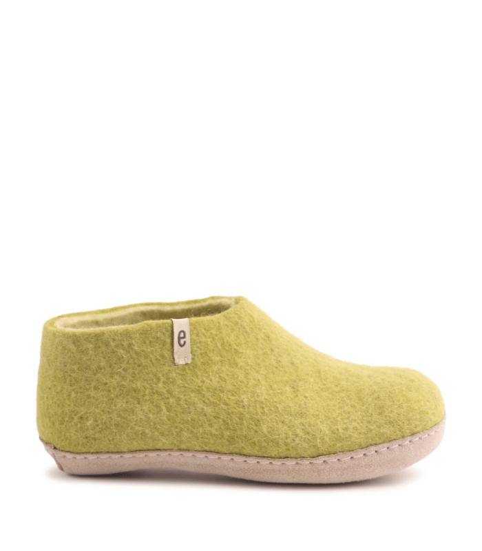 Egos Lime Green Slipper Shoe