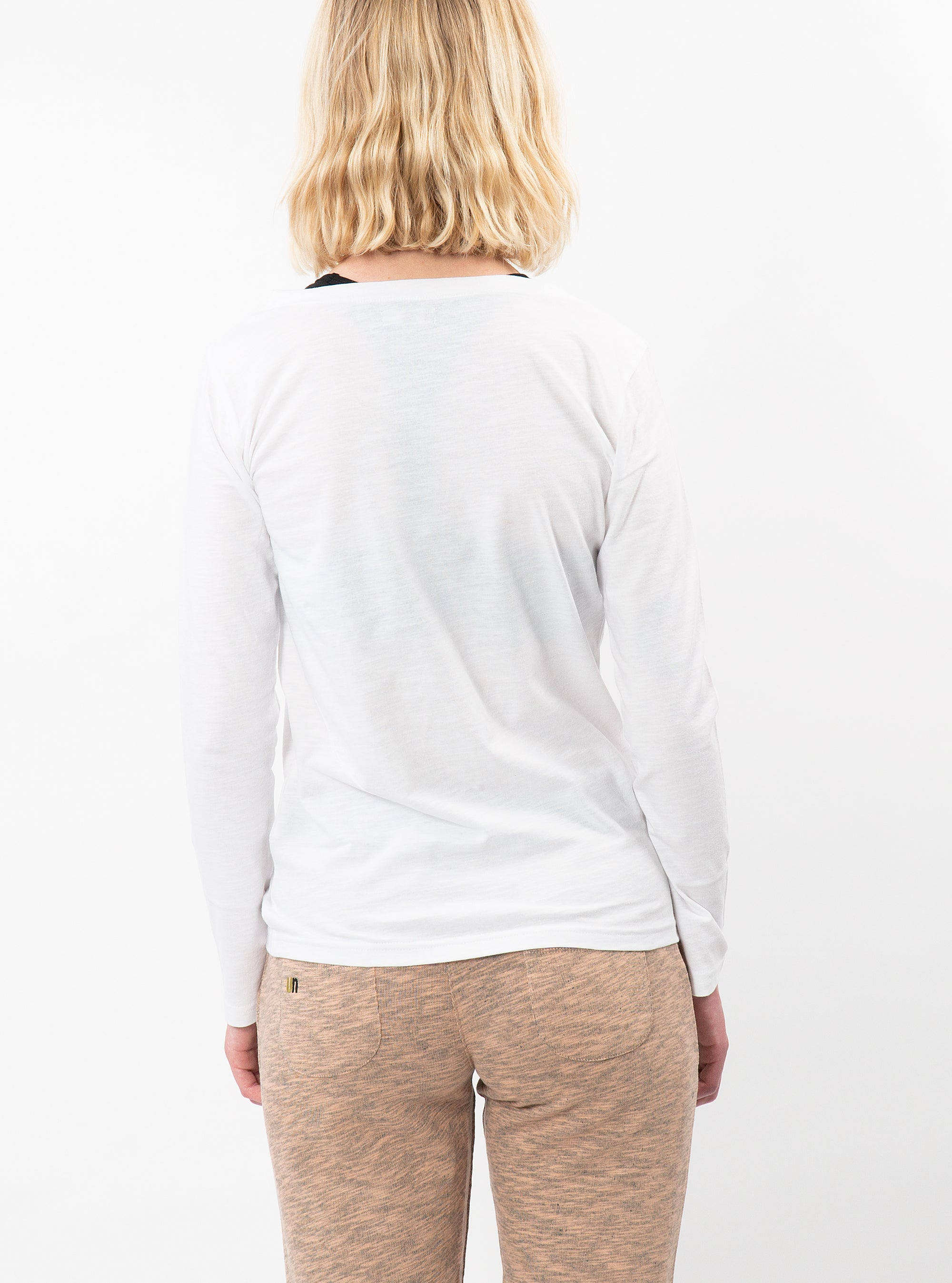 Unoa White Chara Long Sleeve T