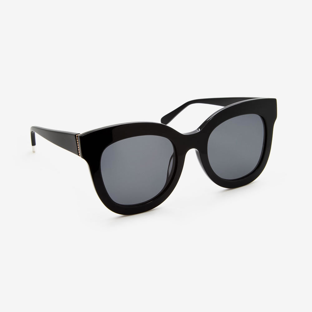 Pala ZURI Recycled Gloss Black Sunglasses