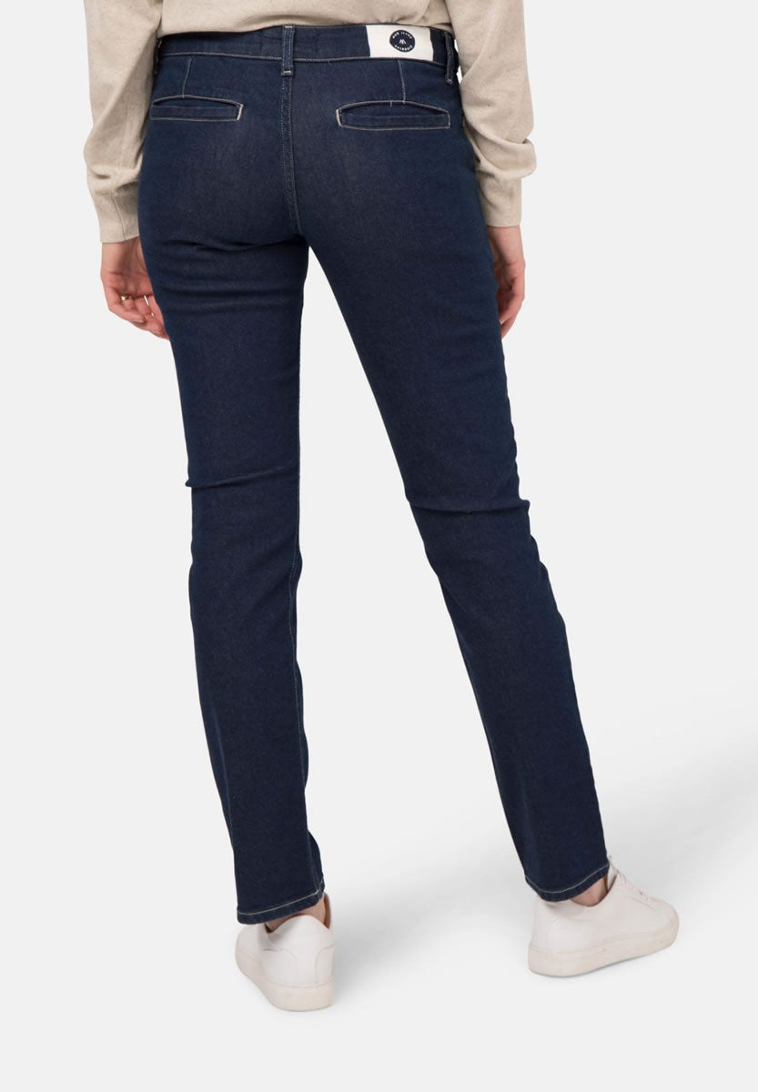 Mud Jeans Claire Chino in Strong Blue