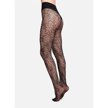Swedish Stockings Limited Edition Edith Lace Tights in Black