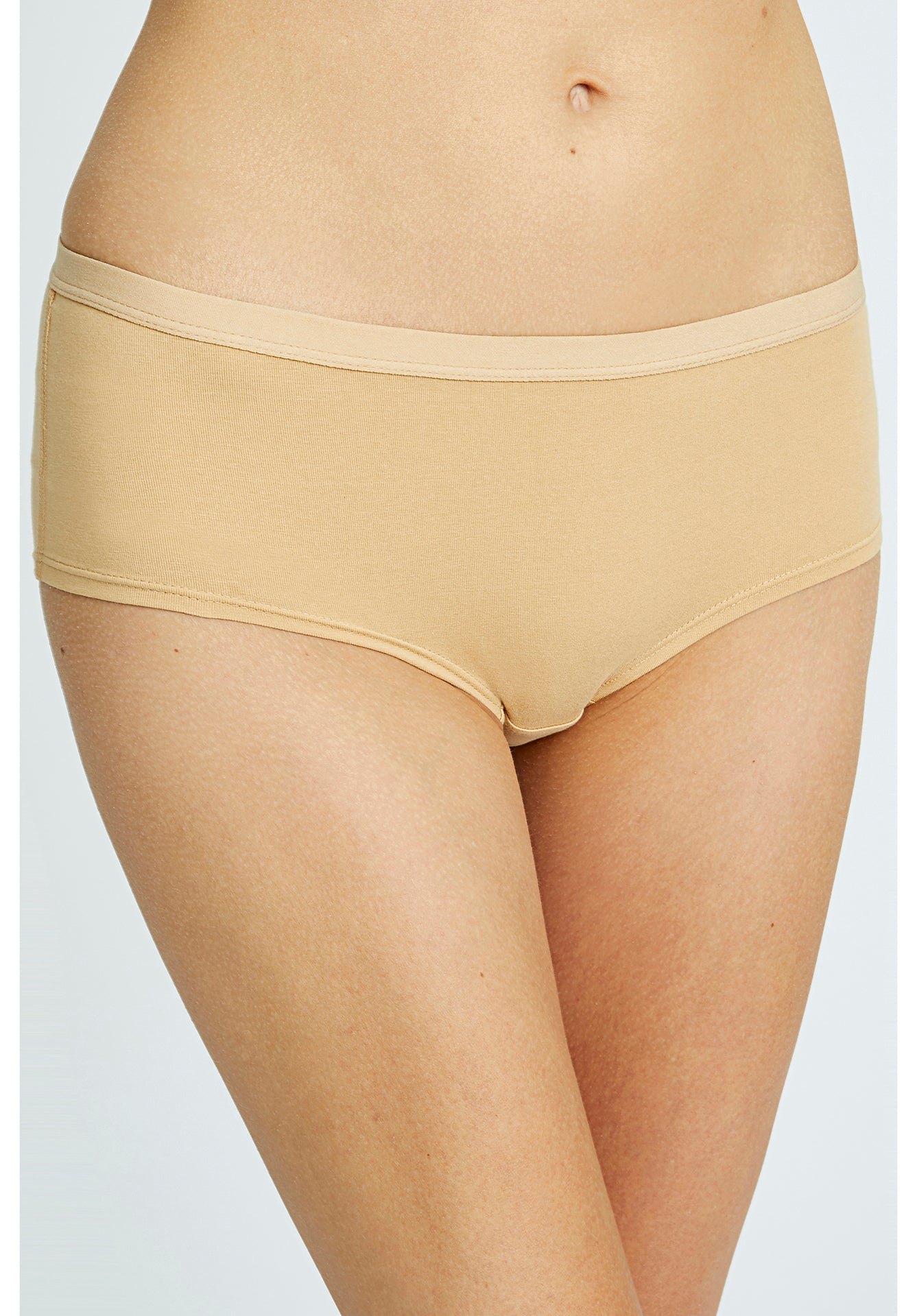 People Tree Low Rise Shorts in Almond