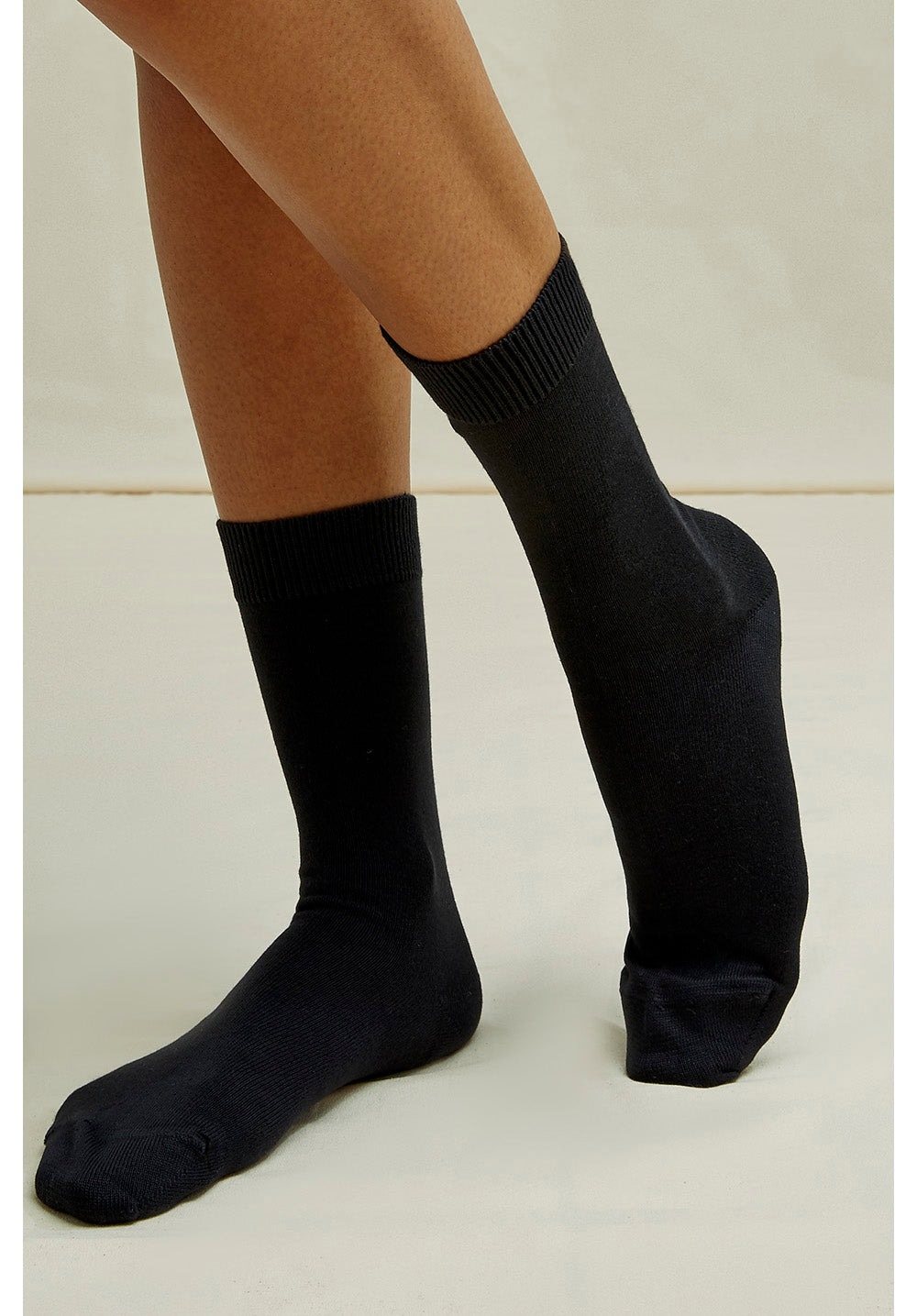People Tree Organic Cotton Socks in Black
