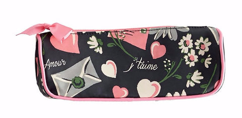Floral Love Letters Cosmetic Bag