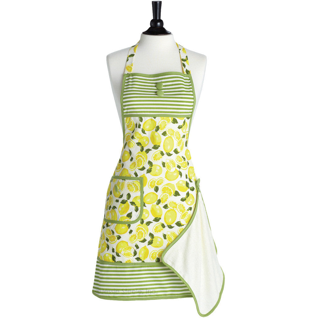 Summer Lemons Gigi Apron with Towel