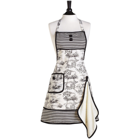 French Toile Gigi Apron with Towel