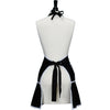 Black with White Bias Carmen Apron