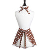 Retro Chocolate Polka Dot Ava Apron