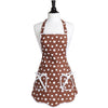 Brown & White Retro Polka Dot Ava Apron