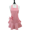Geranium Pink and White Polka Dot Josephine Apron
