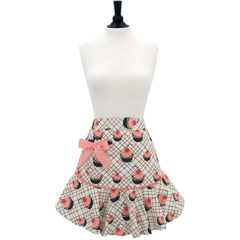 Cherry Cupcakes Josephine Cocktail Apron