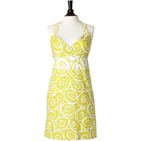 Darling Green Swirls Apron