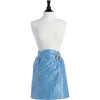 Flocked Blue Bouquet Damask June Half Apron
