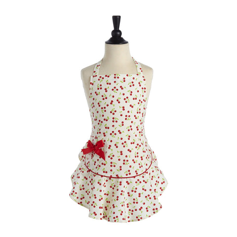 Retro Cherries Child's Josephine Apron