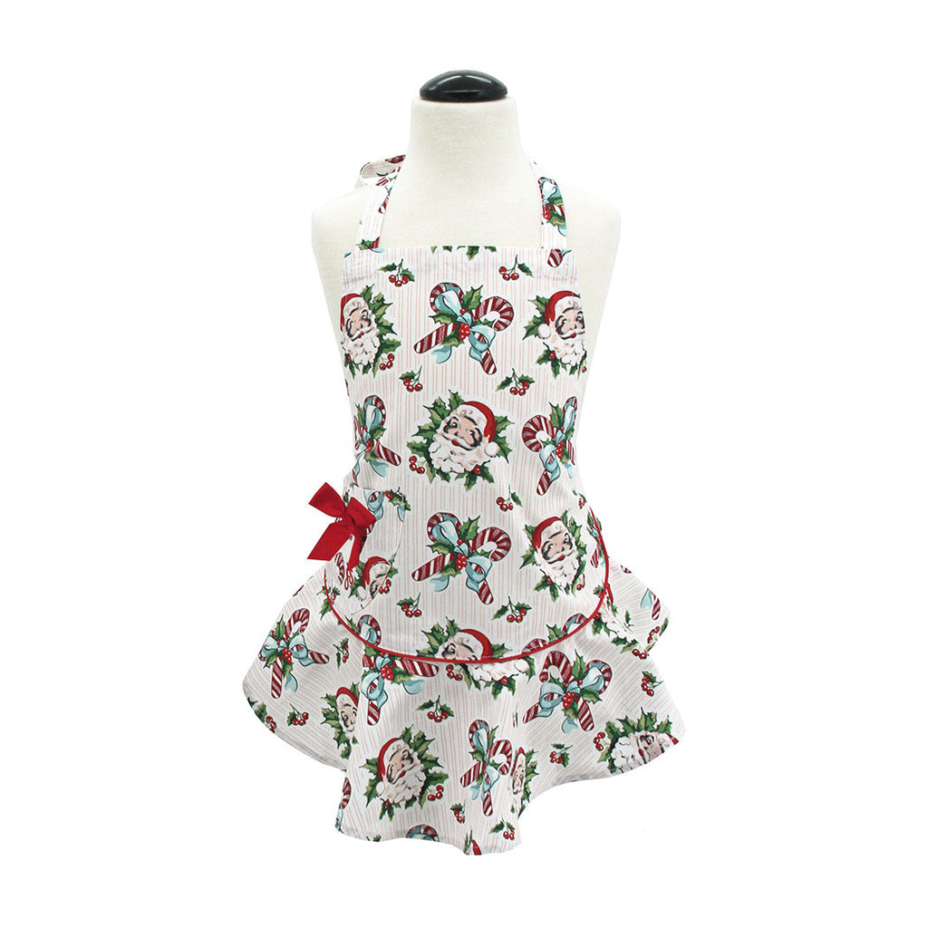 Candy Cane Santas Child's Josephine Apron