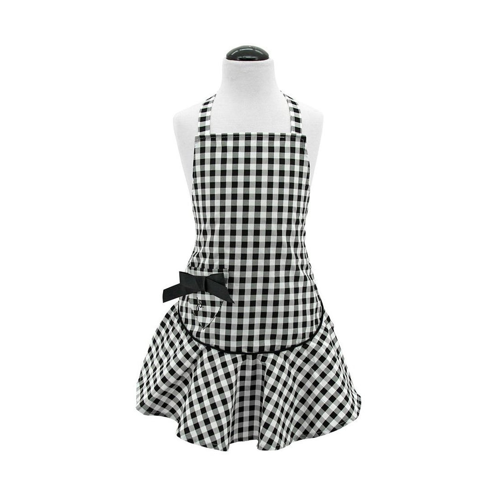 Black & White Gingham Child's Josephine Apron