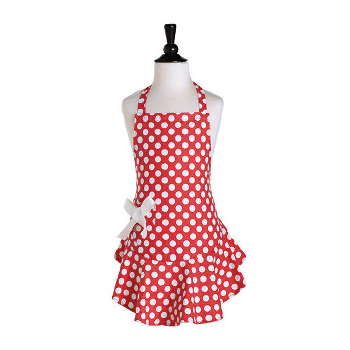 Red & White Polka Dot Child's Josephine Apron