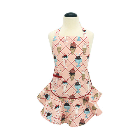 Cherry Sundaes Child's Josephine Apron