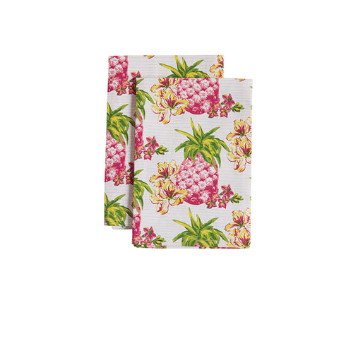 Pink Pineapples Cloth Napkin
